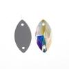 Preciosa Sew-on Mc Navette 2Hole 18x9mm Crystal Aurora Borealis